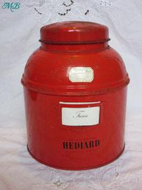 boîte tôle rouge ancienne hédiard