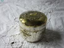 poudrier ancien métal argenté