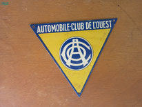 plaque automobile club de l'ouest