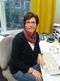 Unsere Sekretärin Brigitte Hertog