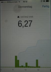 Ist echt interessant zu sehen wieviele Kilometer man so im Alltag abspult.