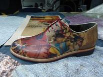新作の紳士靴です。楽しいですね。