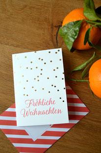 Goldene Sternchen • Klappkarte + Kuvert