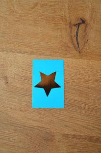 Minikarte/Anhänger Goldener Stern • 10er-Päckchen