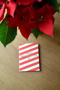 Rotweissgestreift • Klappkarte + Kuvert