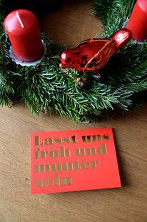 Froh & Munter • Klappkarte + Kuvert