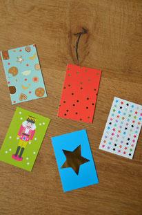 Minikarte/Anhänger bunt gemischt • 20er-Päckchen