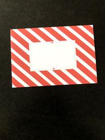 10er-Pack Streifen-Kuverts Rotweiß • 6,-- €