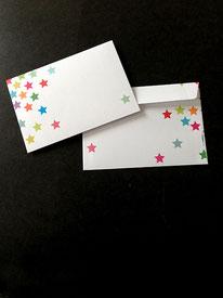 10er-Pack Regenbogensternchen-Kuverts • 6,--€