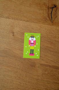 Minikarte/Anhänger Nussknacker • 10er-Päckchen