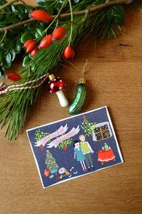 Weihnachten mit Gin & Tonic • Klappkarte + Kuvert
