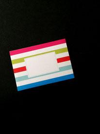 10er-Pack Regenbogenstreifen-Kuverts