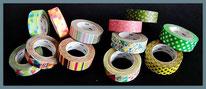 Japanische Klebebänder - masking tapes