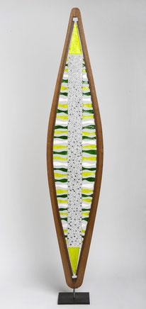 Totem - Bois / fil de fer / soudures / papier - hauteur: 185 cm (atelier
