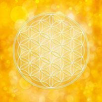 Blume des Lebens in Gelb