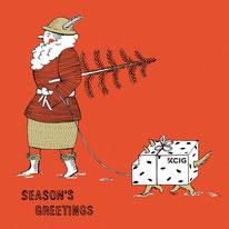 Heike Herold, Illustration, Weihnachtskarte, Klappkarte, KCIG, Köln, Neujahrskarte, Season's Greetings