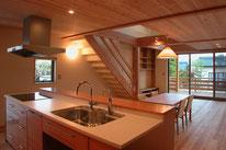 オリジナルキッチン・長野県・建築家・住宅