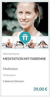 Meditation mit Fabienne - In 10 Sessions kannst du dein Wissen vertiefen, eine gesunde Routine entwickeln und Achtsamkeit in dein Leben integrieren.