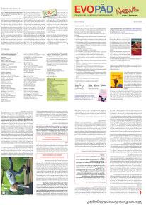 Evopäd News, 10/2009 - 9/2011, Gesamtgestaltung Christina v. Puttkamer
