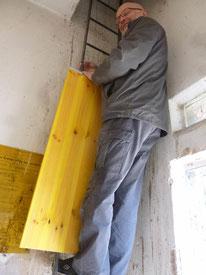 Richard Kalkbrenner insalliert Zwischenboden