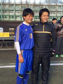 Jリーグの中町公佑選手(横浜Fマリノス)とキャプテン