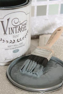 Vintage Paint murale de Jeanne d'Arc living - couleur Ocean blue