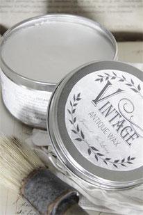 Cire blanche de Jeanne d'Arc Living pour la protection et la patine de la Vintage Paint