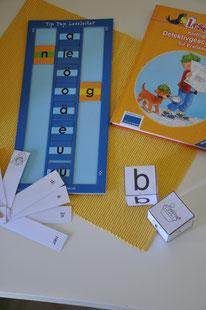 Material zur Silbierung, Zusammenlautung, Differenzierung von Buchstaben.