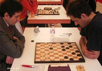 Igor Elvov (li) - Präsident der Sektion 64  in Deutschland  und Tom Mankowski (re) - Vize-Präsident der IG-Damespiel