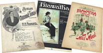 Гайавата, Море, американский танец кекуок, антикварные ноты для фортепиано
