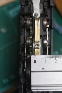 Erst wird der Schleifer vermessen: Breite: 5mm