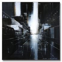 """15""""STADTLANDSCHAFT"""" – Mischtechnik/Collage auf Leinwand auf 2cm Keilrahmen – licht- und farbecht endfixiert – Größe: 20x50 – Bildpreis: 150€"""
