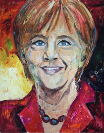 """""""Angela Merkel"""" 150x120 Öl auf Leinwand"""