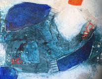 """""""Ins Blaue 4"""" 100x120 Mischtechnik auf Leinwand"""