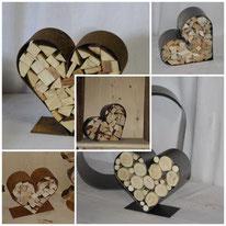 Hochzeitsherzen, Herzen aus Metall oder rostig