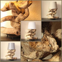 Treibholz, Korsika, Unikat, Lampe, Leuchte, Tischleuchte, Tischlampe, Stehlampe