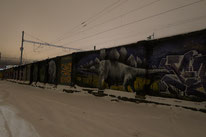 Graffiti in Bahnhofsnähe Tallinn