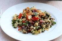 Lauwarmer Ofengemüse-Bulgur-Salat