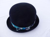 chapeau melon bleu marine