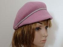 casquette en laine rose