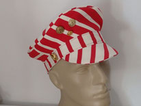 casquette marin rayé rouge