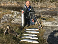 Lachse angeln in Norwegen, Straumen mit Blinkerrute
