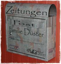 Briefkasten mit Serviettentechnik, eigenem Foto und personalisiert