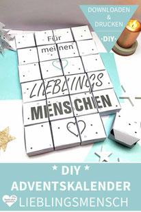 Diy Adventskalender Selber Basteln Diy Shop Blog Downloaden
