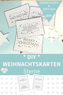 Weihnachtskarten basteln, Weihnachtsgrüße, Weihnachtskarten drucken, Grußkarten Weihnachten, Weihnachtskarten selber gestalten, Weihnachtsgrußkarten, Weihnachtskarten selber basteln, Weihnachtskarten gestalten, Weihnachtskarten selber machen, diy, sterne