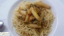 Spaghetti mit Spargelsauce - Rezept mit Schritt für Schritt Anleitung (mit Bild).