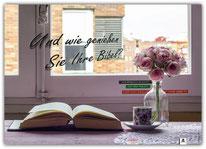 Poster Plakat Bibel genießen
