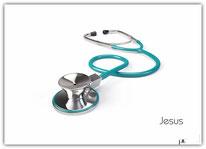 Poster Plakat Jesus Arzt Stethoskop