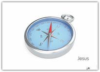 Poster Plakat Jesus Kompass
