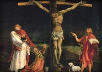 Jesus am Kreuz von Matthias Grünewald, Isenheimer Altar